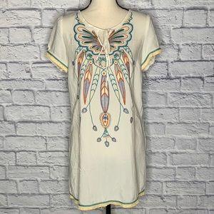 Twenty One Boho Style Embroidered T Shirt Dress